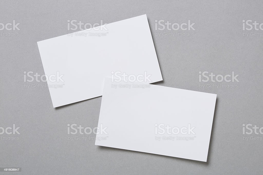 Blank business cards stock photo more pictures of blank istock blank business cards royalty free stock photo reheart Image collections