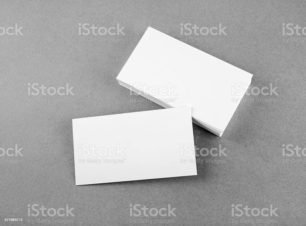 Businessman giving a white blank business card woman blank business blank business cards royalty free stock photo colourmoves