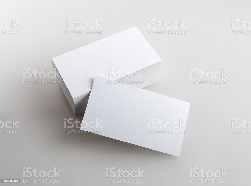 Blank business cards stock photo more pictures of 2015 istock blank business cards royalty free stock photo reheart Image collections