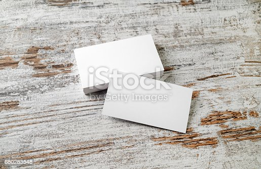 istock Blank business cards 680283548
