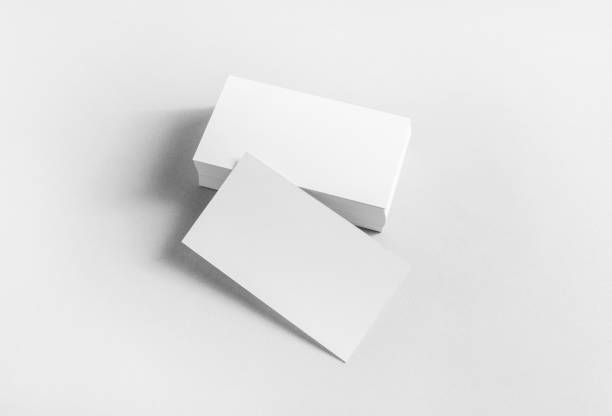 blank business cards - business card stock photos and pictures