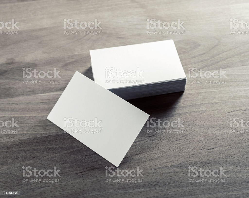 Blank business cards stock photo more pictures of advertisement blank business cards royalty free stock photo reheart Image collections