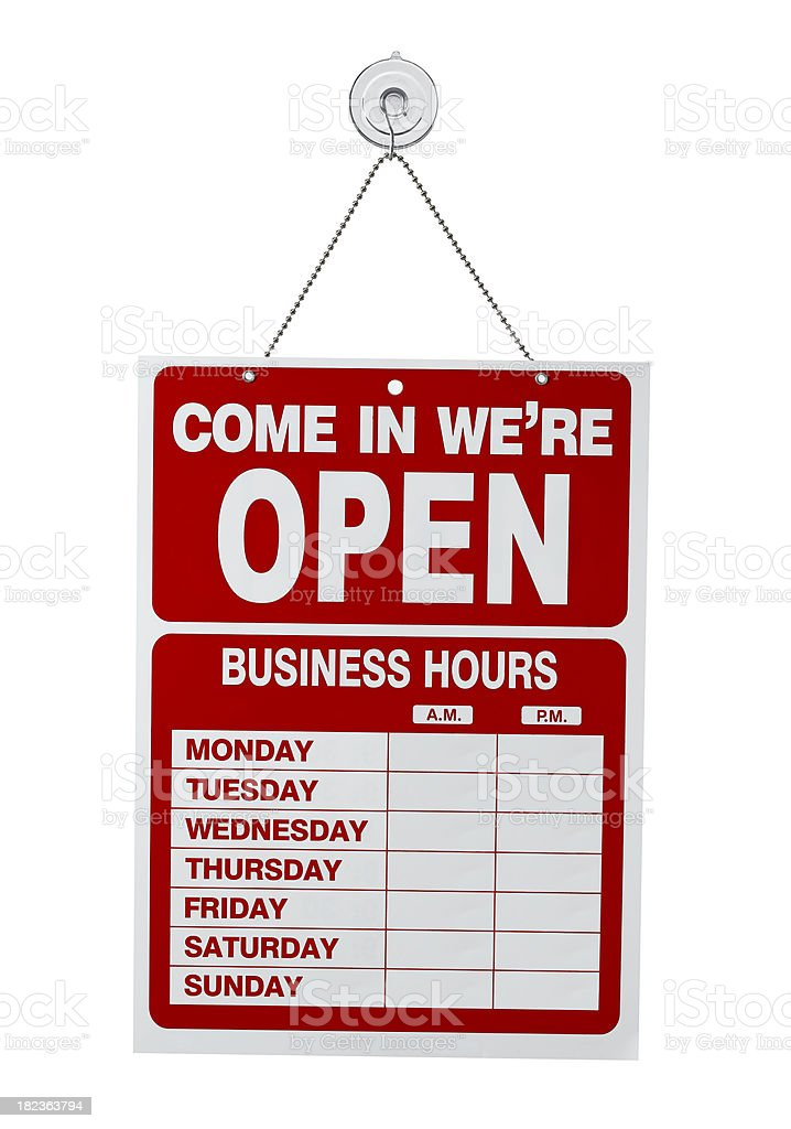 blank business sign stock photo