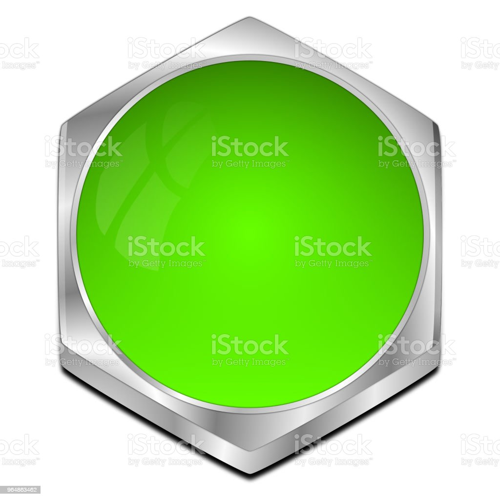blank Button - 3D illustration royalty-free stock photo