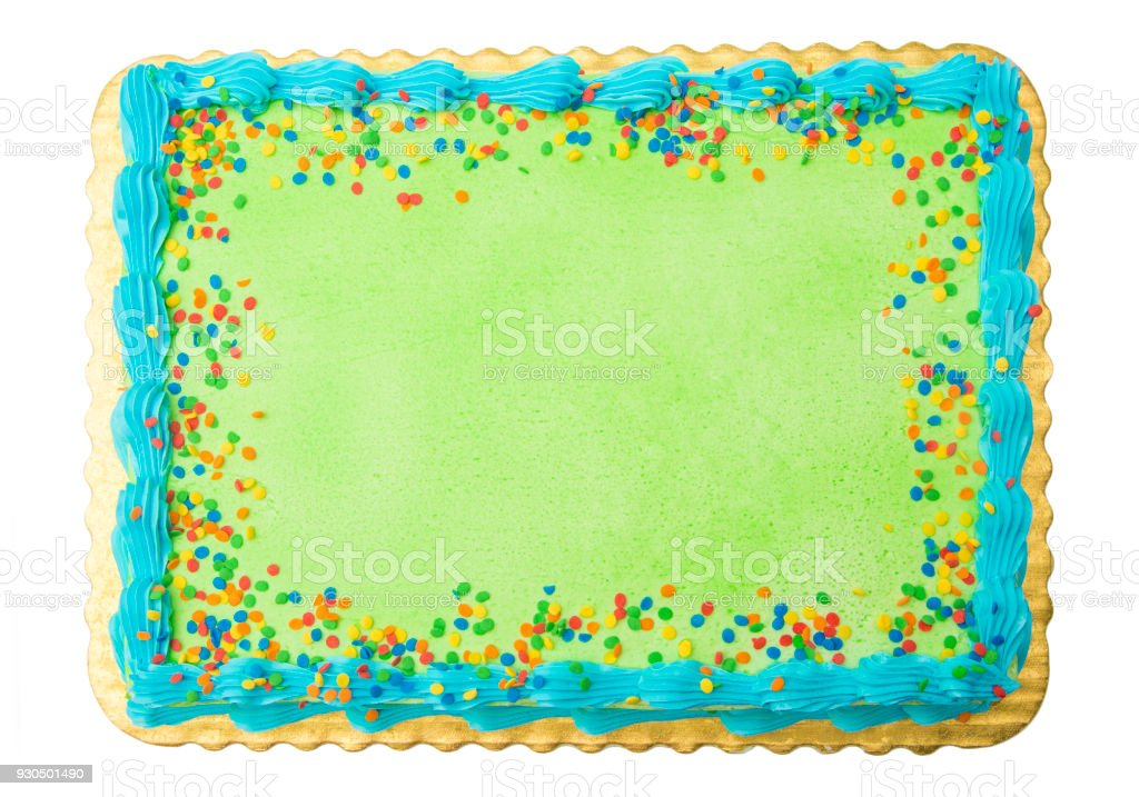 Blank Cake Add Your Own Writting Or Message Stock Photo