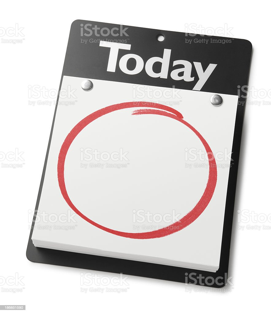 Blank Calendar royalty-free stock photo