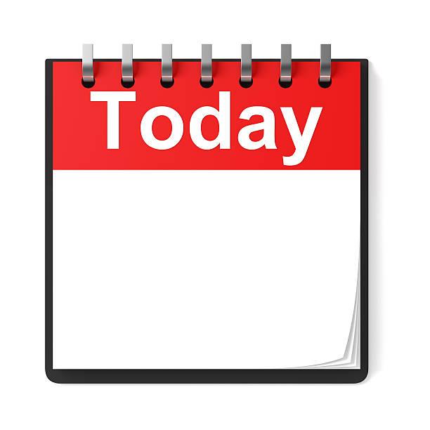 leere kalender noch heute - kalender icon stock-fotos und bilder