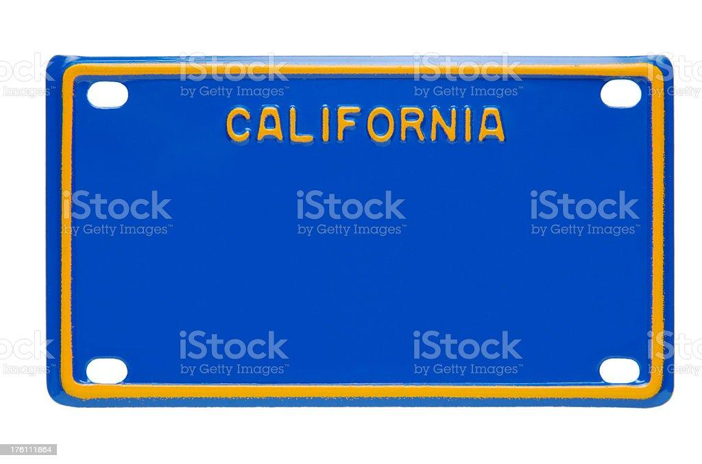 A blank California license plate stock photo