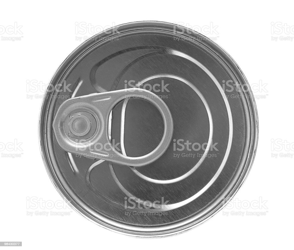 Blank can on a white background royalty-free stock photo
