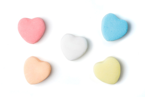 Blank Candy Hearts