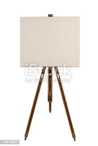 istock Blank canvas on an easel 145128372