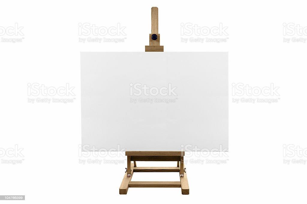 Blank canvas royalty-free stock photo