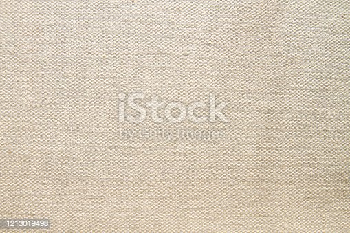Blank canvas fabric background or texture