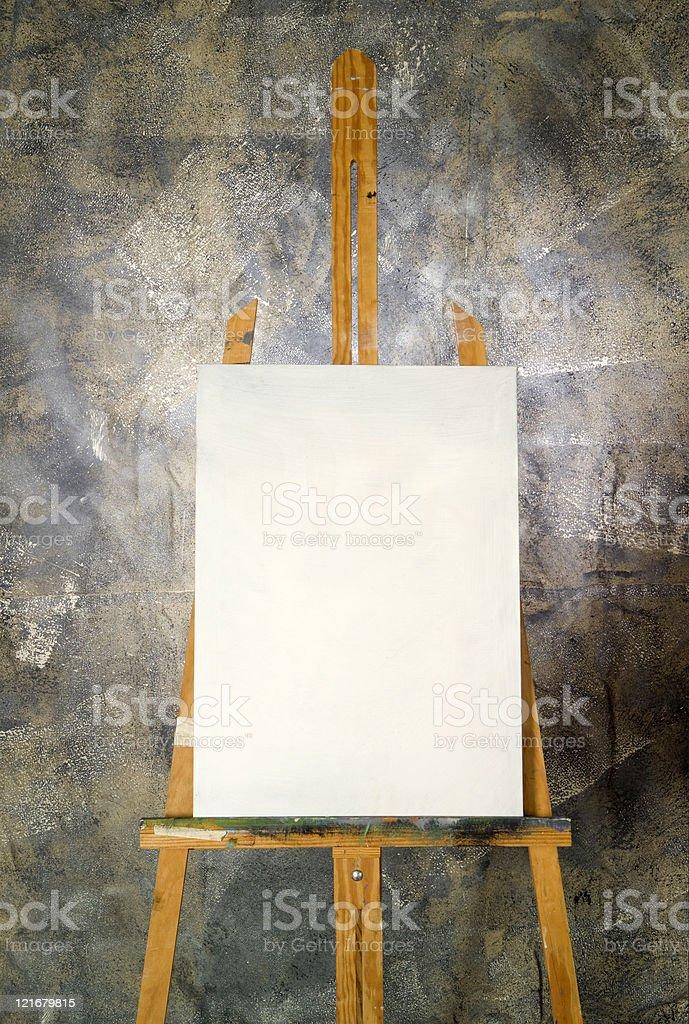 Blank canvas stock photo