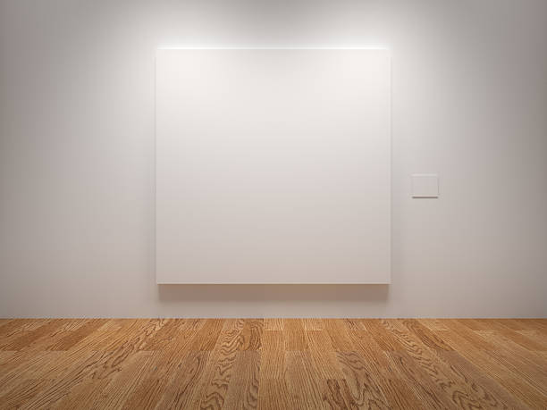 blank canvas - museum stockfoto's en -beelden