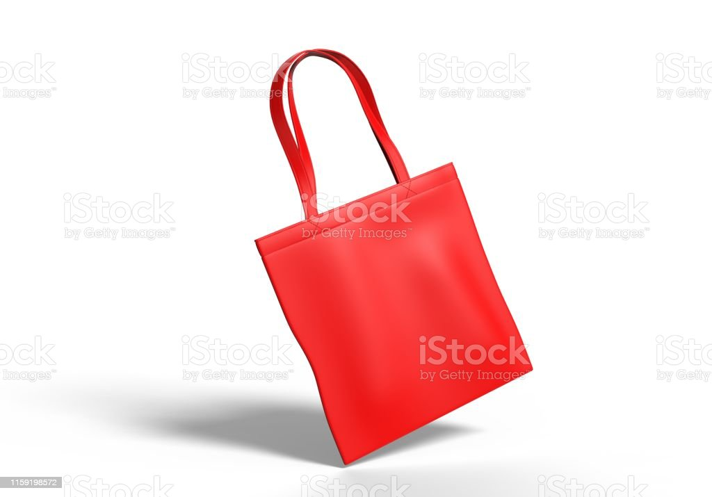 Blank Canvas Tote Bag For Mock Up And Branding 3d Render