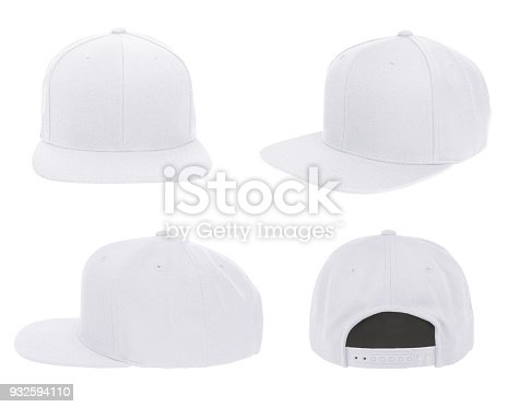 istock Blank cap 4 view color white 932594110