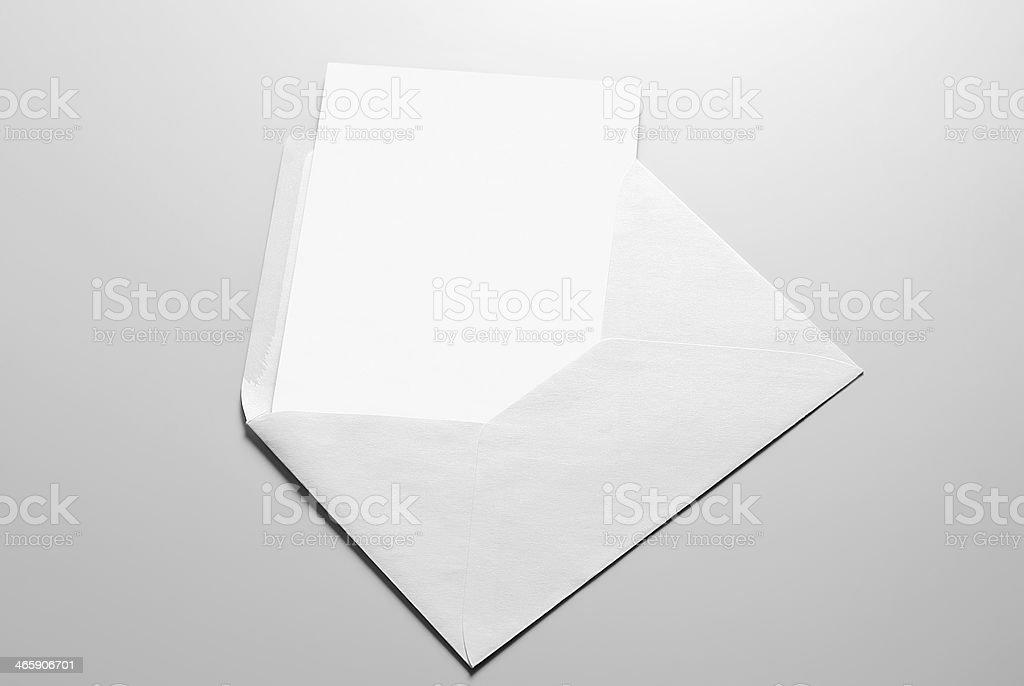 Carte vierge et enveloppe - Photo