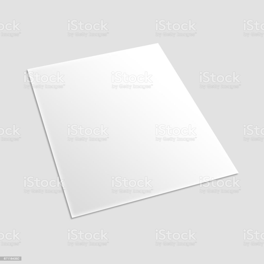 Blank card flyer banner brochure poster isolated on white ready for your design illustration. stock photo