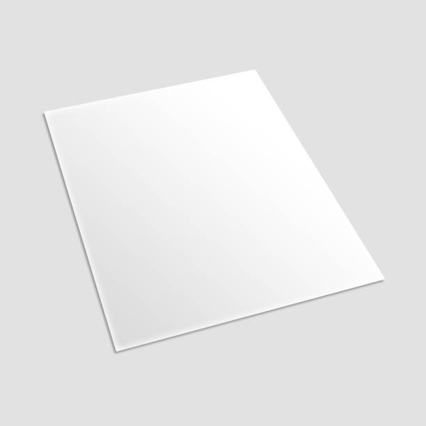 leere karte flyer banner broschüre plakat isoliert auf weiss bereit für ihre design-darstellung. - flyer vorlagen stock-fotos und bilder