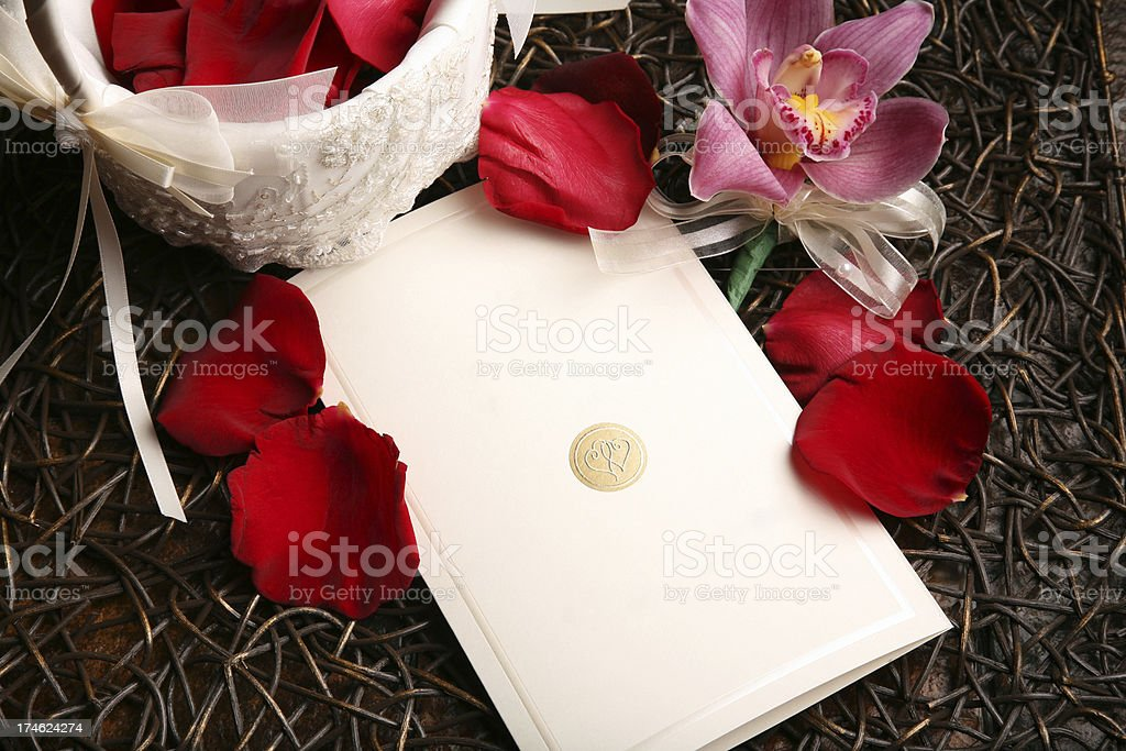 Blank Card for Announcement Wedding Engagement Celebration royalty-free stock photo