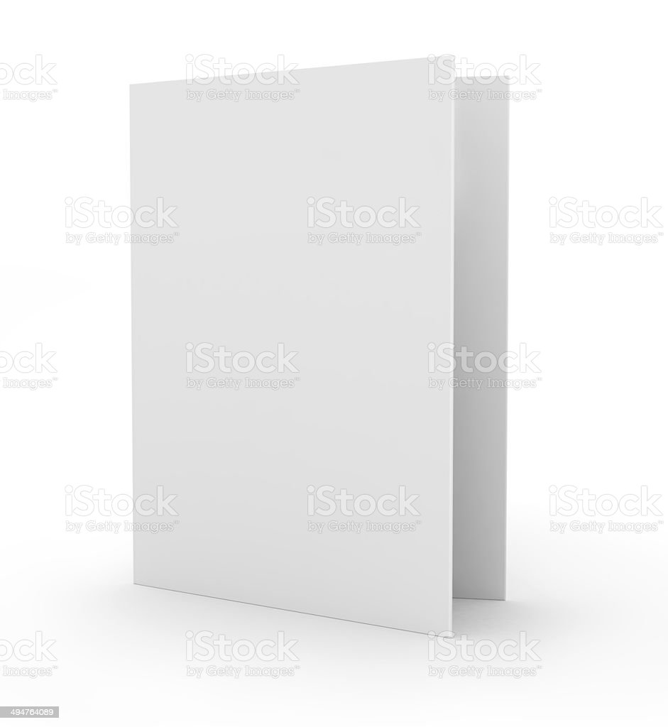 blank card, isolated on white stock photo