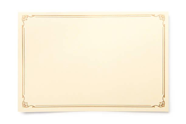 blank karte - gutschein ausdrucken stock-fotos und bilder
