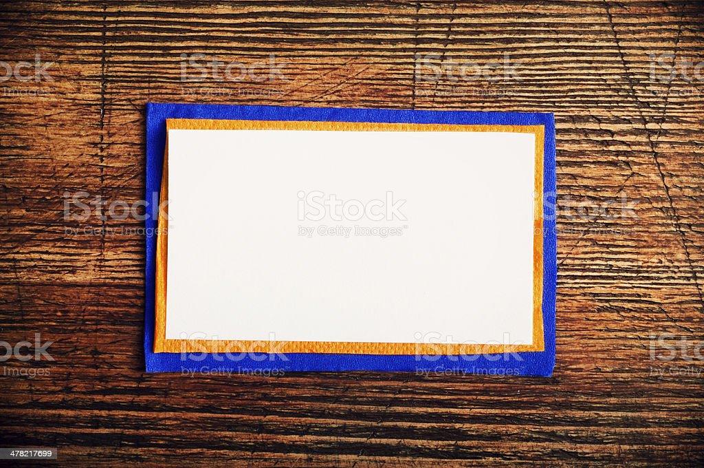 Blank Card royalty-free stock photo