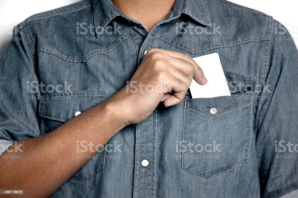 Tarjeta en blanco - foto de stock