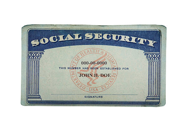 blank card Blank US social security card isolated on white social security stock pictures, royalty-free photos & images
