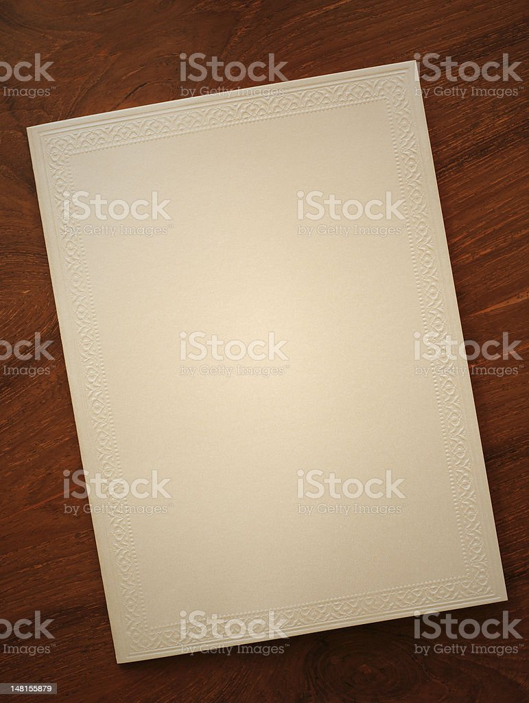 blank card with thai traditional frame royalty-free stock photo