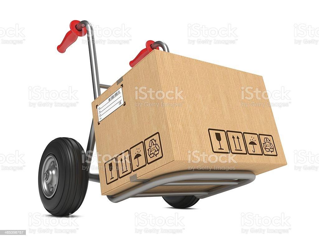 Leere Karton Karton auf Hand-Lkw. – Foto