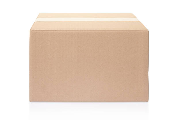 La caja de cartón blanco - foto de stock