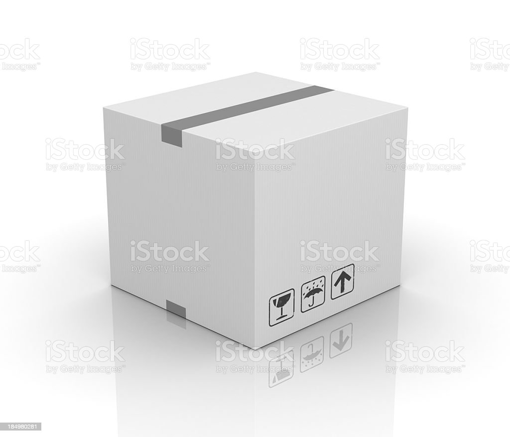 Blank cardboard box royalty-free stock photo