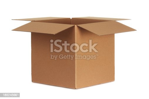 Blank cardboard isolated on white background.
