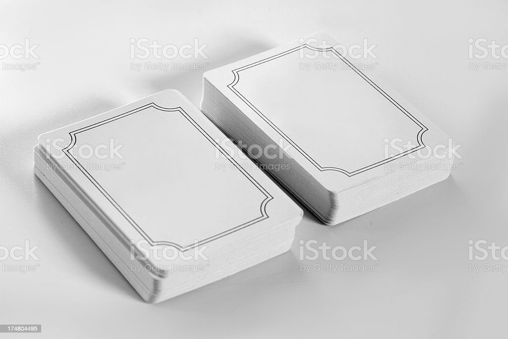 Blank cards stock photo