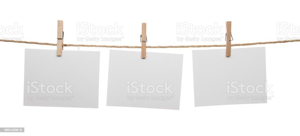 Blank Cards with Copy Space Hanging zbiór zdjęć royalty-free