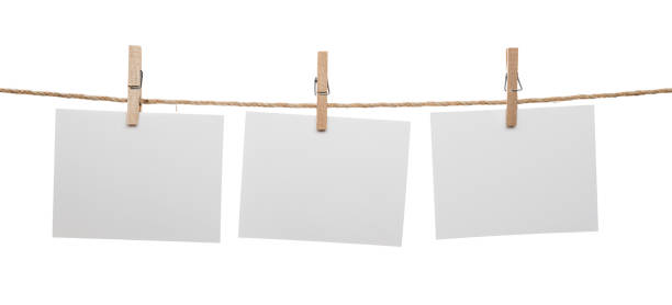 Blank Cards with Copy Space Hanging stock photo