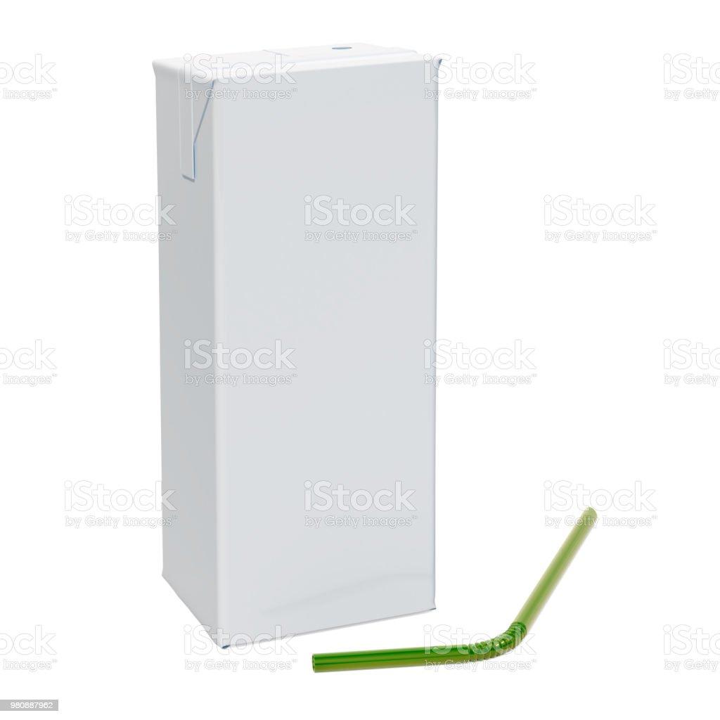 Caixa de recipiente de empacotamento da caixa em branco com palha - foto de acervo