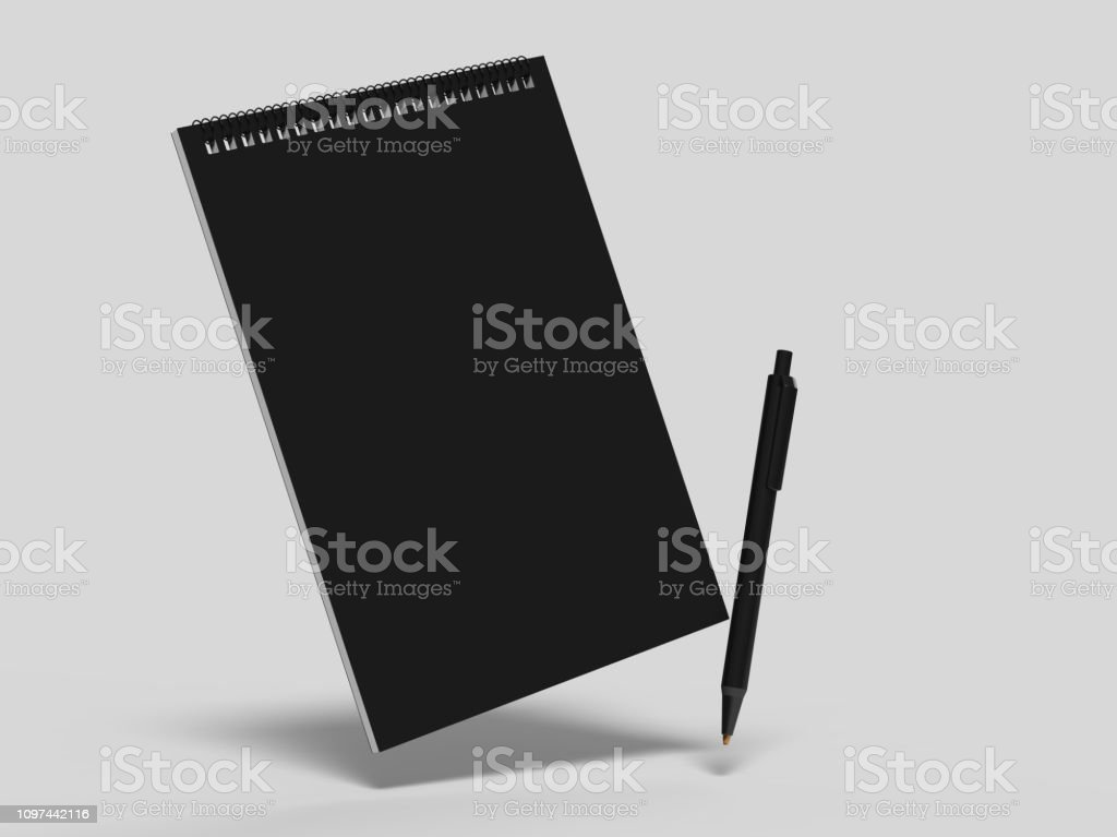 Blank cash voucher book for branding mock up. 3d illustration.