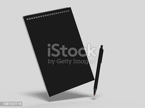 istock Blank cash voucher book for branding mock up. 3d rendering illustration. 1097442116