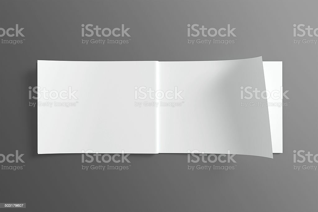 Blank Catalog / Brochure on dark background stock photo