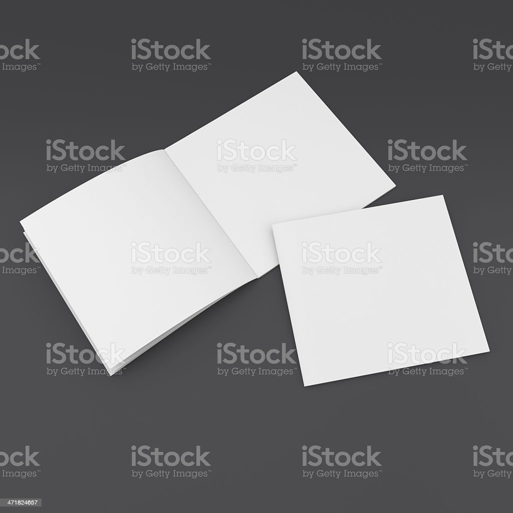 blank catalog in a square format stock photo