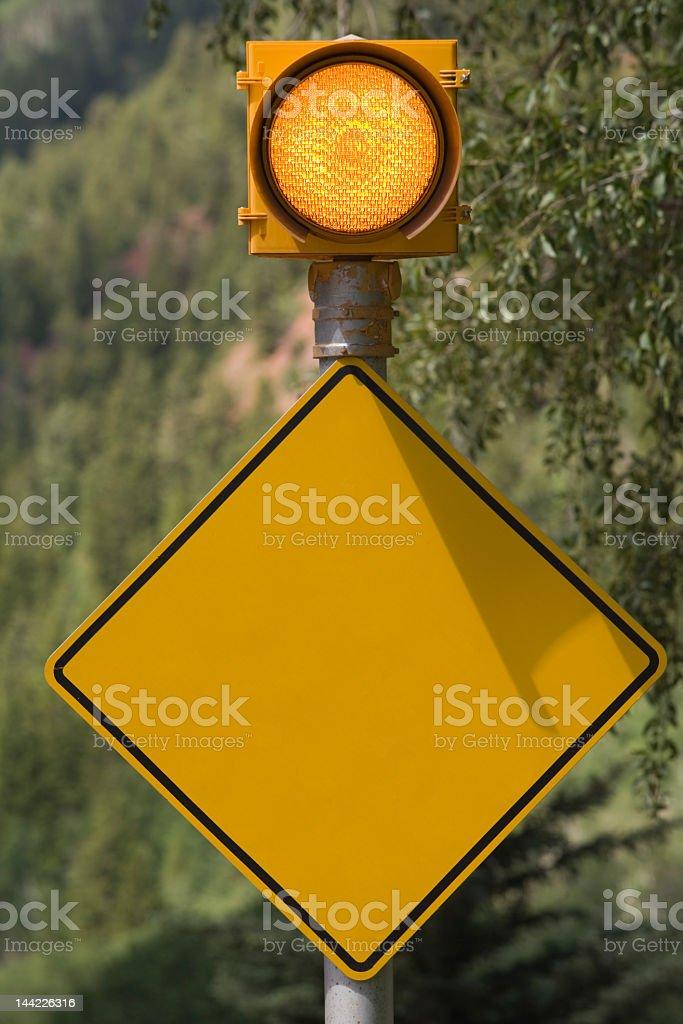 Blank Caution Sign stock photo