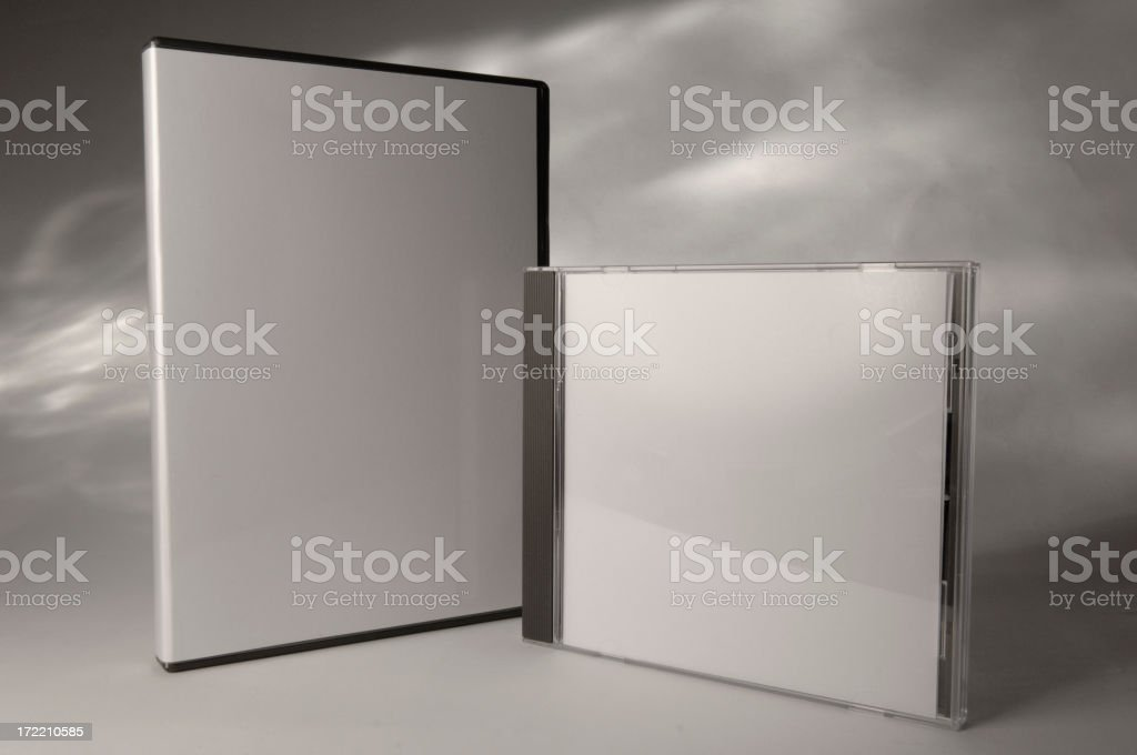 Blank CD and DVD case add text royalty-free stock photo