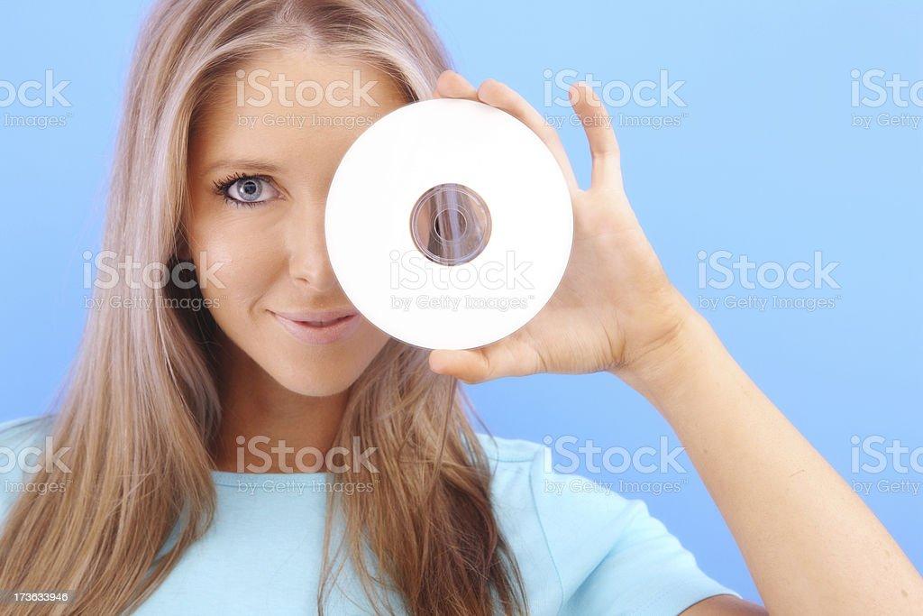 Blank CD Beauty royalty-free stock photo