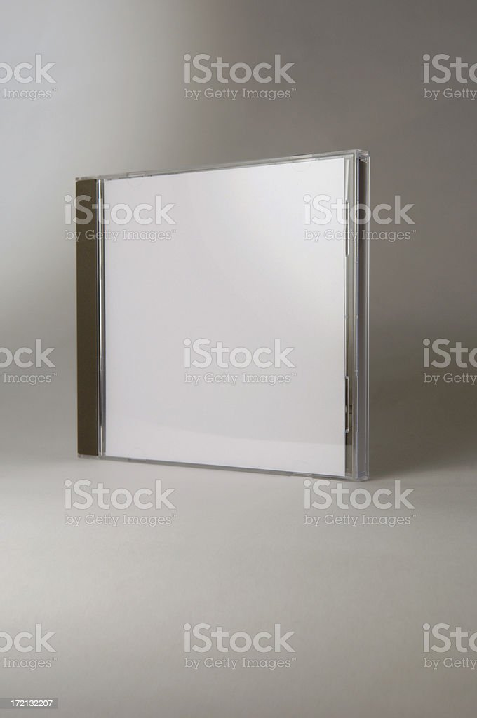 blank CD box add text and graphics royalty-free stock photo