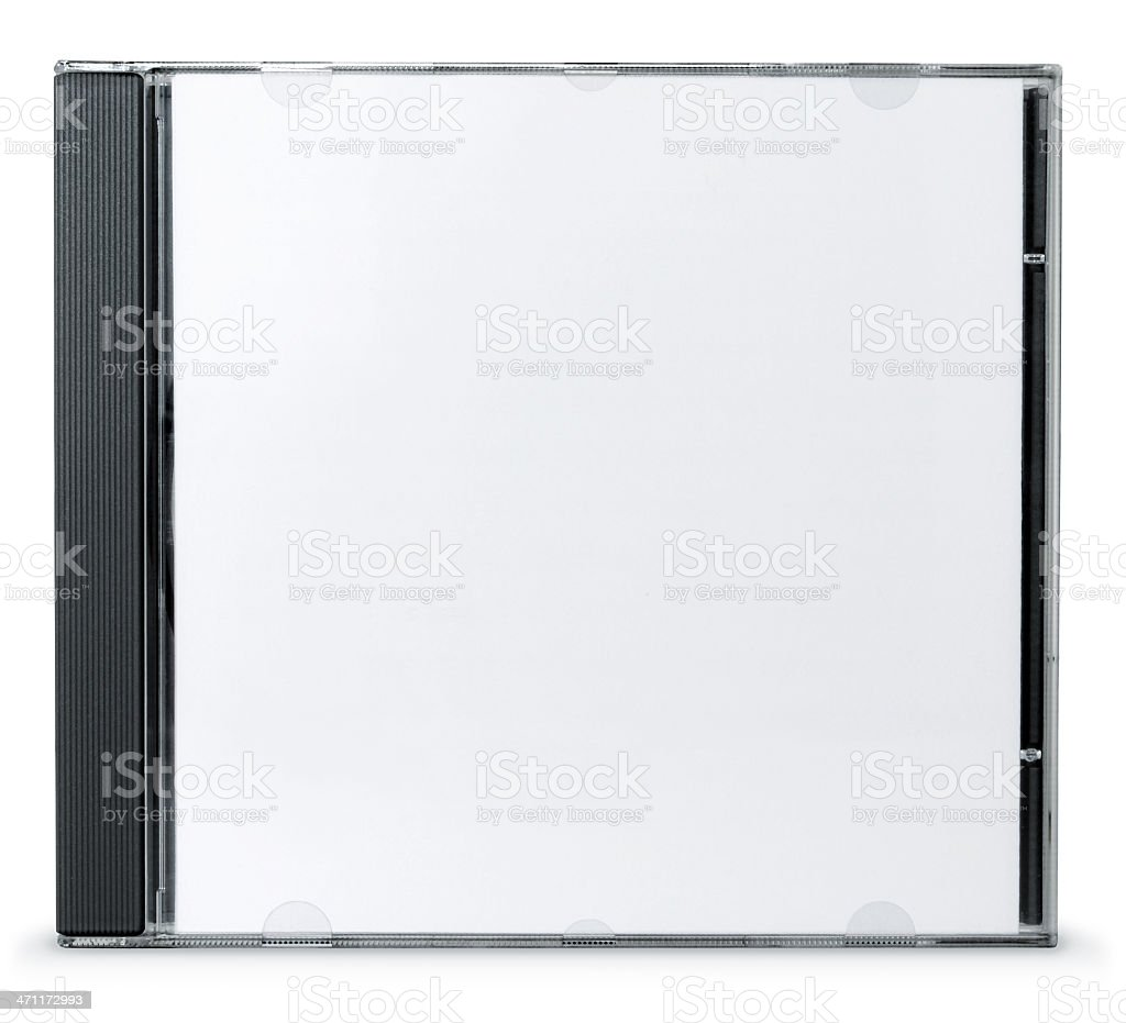 Blank CD Case stock photo