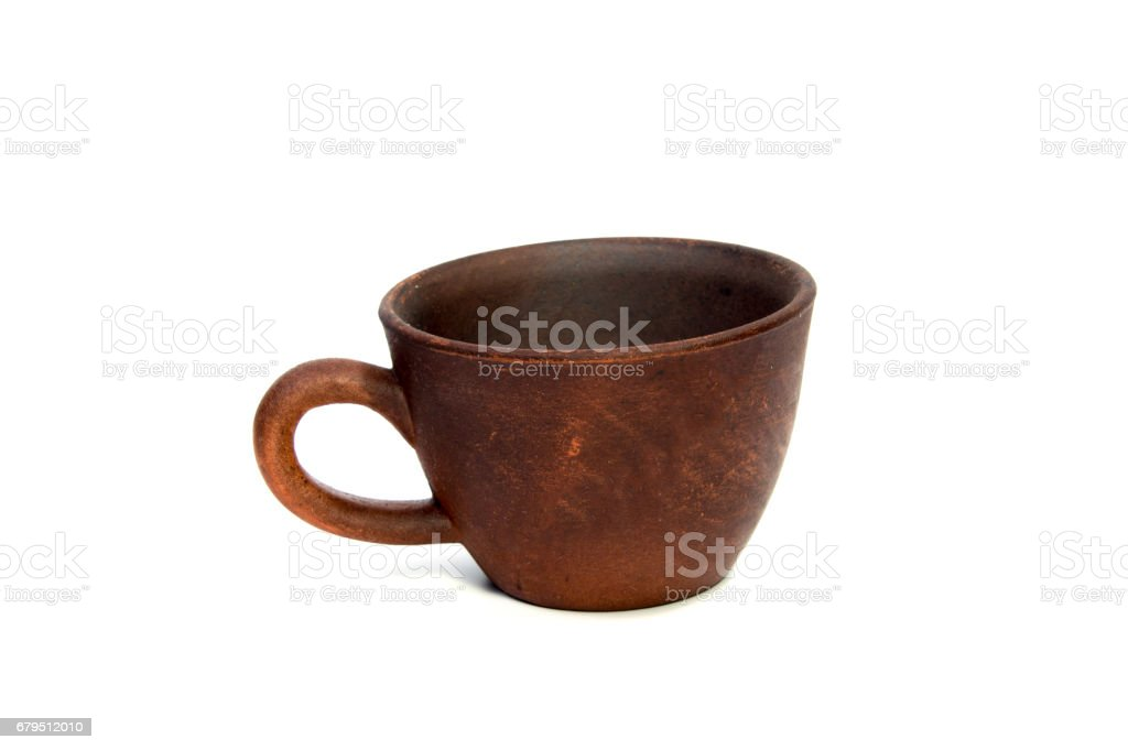 Blank ceramic cup on white background royalty-free stock photo
