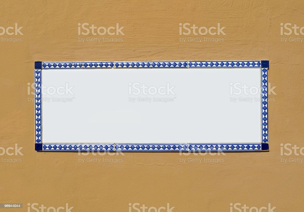 Blank Ceramic Tile royalty-free stock photo